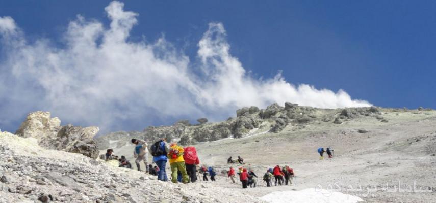 صعود قله دماوند از مسیر جنوبی