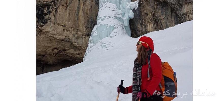 آبشار یخی خور