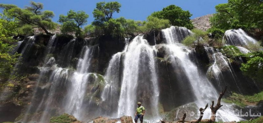 آبشار زردلیمه و دژپارت (پل خداآفرین)