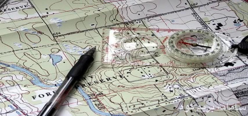 کلاس نقشه خوانی و کار با قطبنما