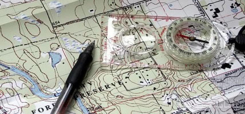 نقشه خوانی کار با قطب نما