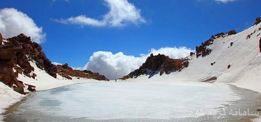 صعودبه قله سبلان وبازدیدازدریاچه استیل آبشار زیبای لاتون