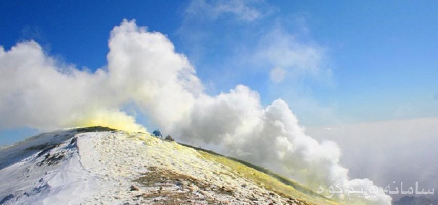 صعودبه قله ۴۰۵۰متری تفتان بام استان سیستان طرح سیمرغ