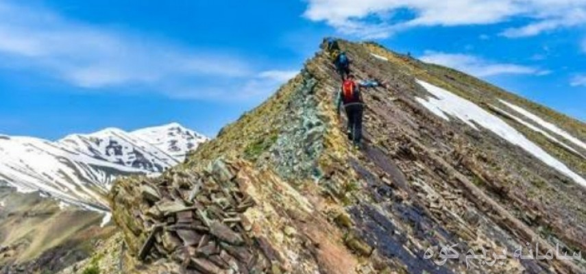 خط الراس قله دارآباد به قله توچال
