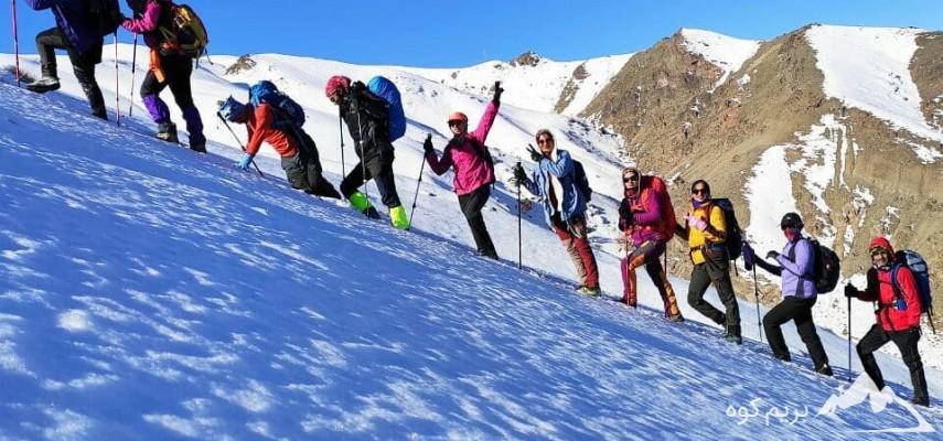 کارآموزی برف مقدماتی بانوان