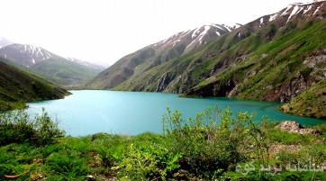 دریاچه گهر و دره زیبای نی گاه و گردو