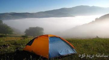 کمپینگ در جنگل رویایی ابر