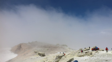 قله دماوند (از جبهه جنوبی)