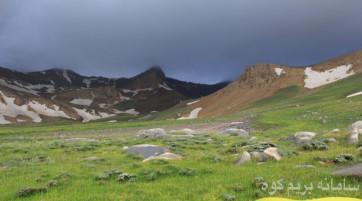 قله علم کوه ... از مسیر تنگ گلو